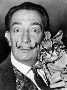 1965 Salvador Dali and his Ocelot, Babou